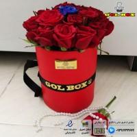 ♥باکس سطلی دو سایز 20 و 35 شاخه گل رز♥