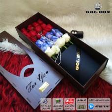 باکس چوبی گل رز خوابیده